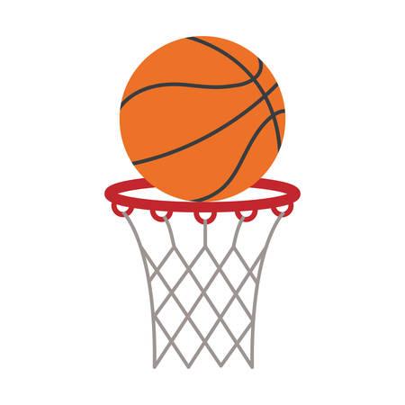 ball basket basketball score shooting vector illustration