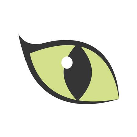 lince rojo: ojo verde gran gato brillante icono ilustración vectorial