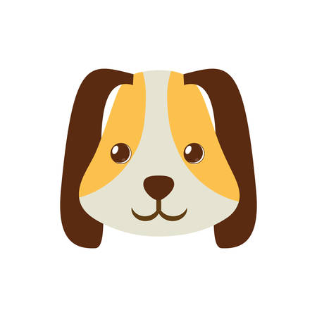 puppy face ear long brown pet vector illustration Illustration
