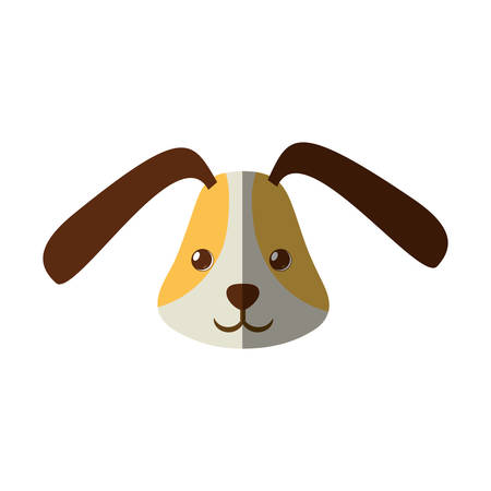 friend nobody: cute head doggy funny expression shadow vector illustration Illustration
