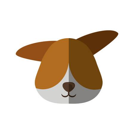 head dog pet animal vector illustration