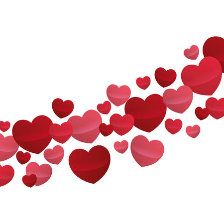hearts love flying decorative wallpaper design vector illustration eps 10 Illustration