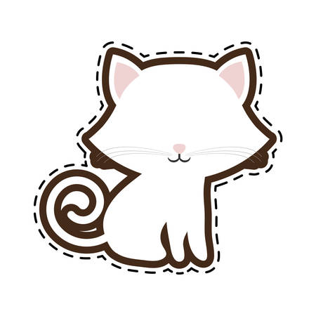 mammal: cat breed animal mammal cut line vector illustration eps 10