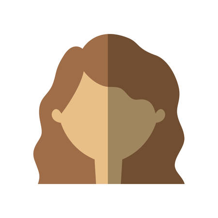 woman shadow: avatar woman face shadow vector illustration eps 10