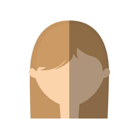 woman shadow: avatar woman face style modern shadow vector illustration eps 10