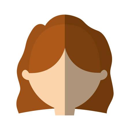 woman shadow: avatar woman face simple style shadow vector illustration eps 10 Illustration