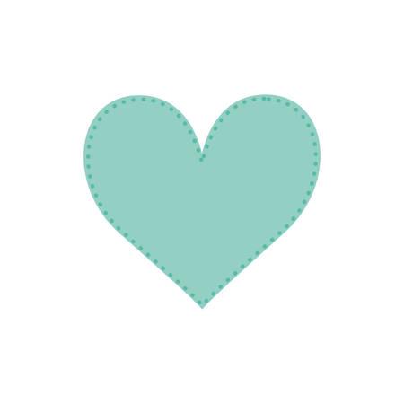 Romantic heart concept icon vector illustration graphic design Illustration