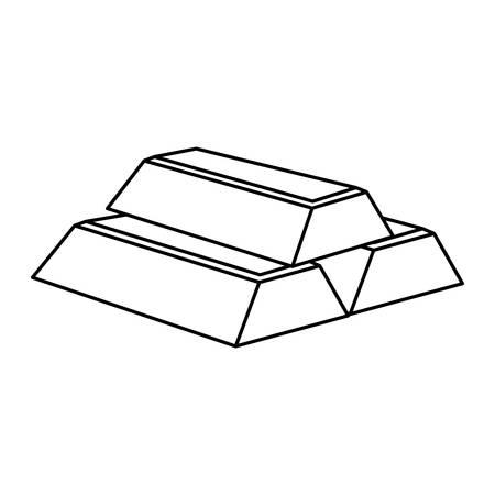 金の延べ棒分離アイコン ベクトル イラスト グラフィック デザイン 写真素材 - 69847823