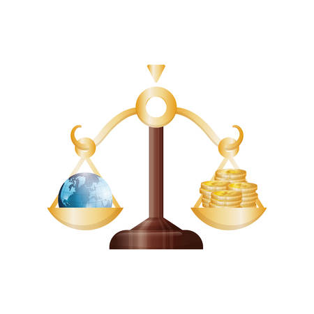 contaduria: Diseño gráfico de ilustración vectorial de iconos de dinero y negocios