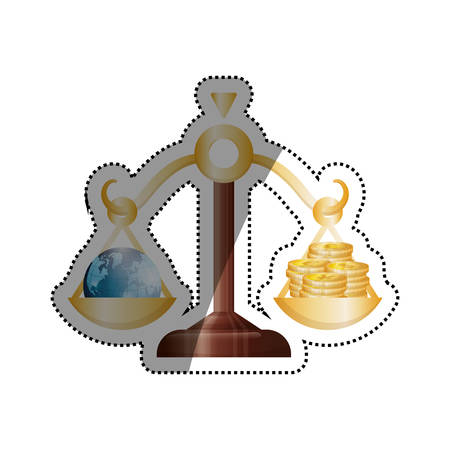 financial advice: Money and business icon vector illustration graphic design
