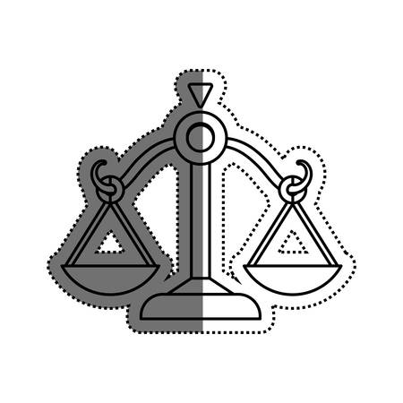 Justice Balance isolated icon vector illustration graphic design