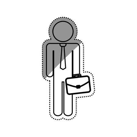 anonymous people: Businessman executive pictogram icon vector illustration graphic design Illustration