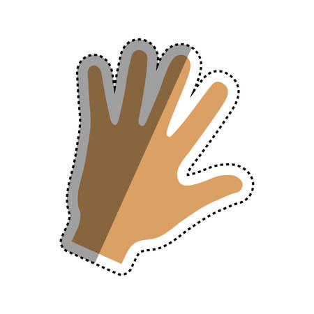 child holding sign: Human hand symbol icon vector illustration graphic design