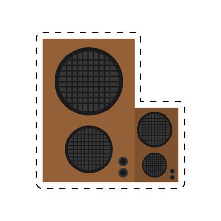speaker baffle audio music dotted line vector illustration eps 10 Illustration