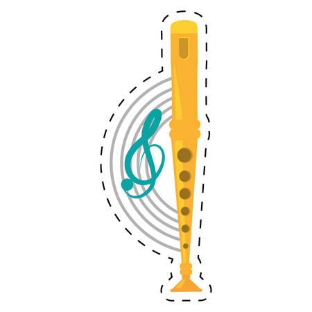 panpipes: pan flute instrument dotted line vector illustration eps 10 Illustration