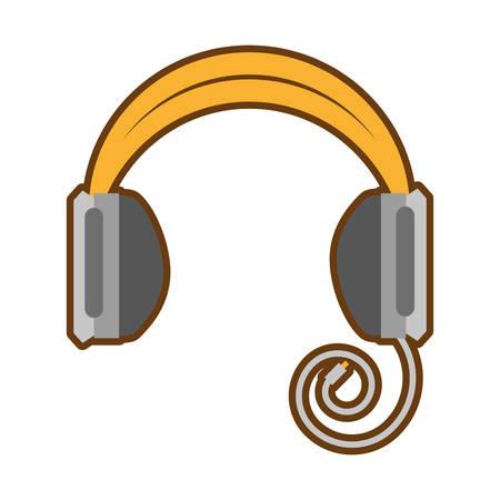 eps: cartoon headphones music listing audio vector illustration eps 10 Illustration