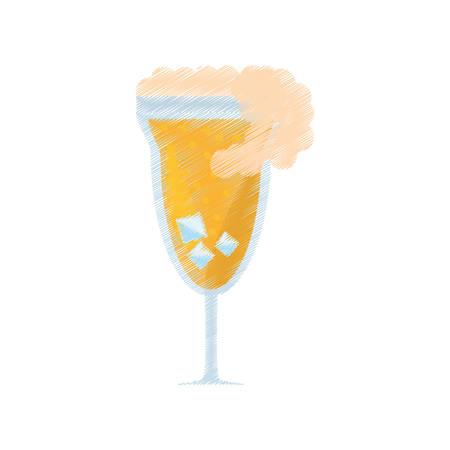 collins: drawing cocktail mimosa drink celebration vector illustration eps 10 Illustration