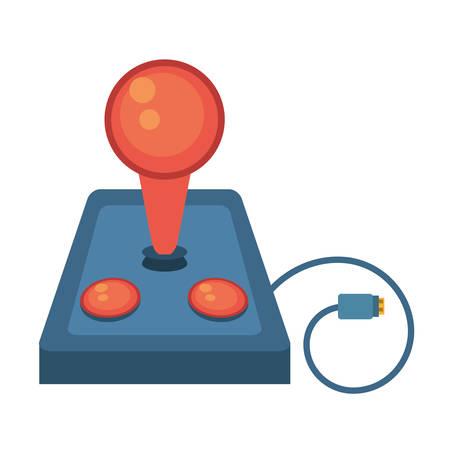 joystick controller retro game cable vector illustration eps 10