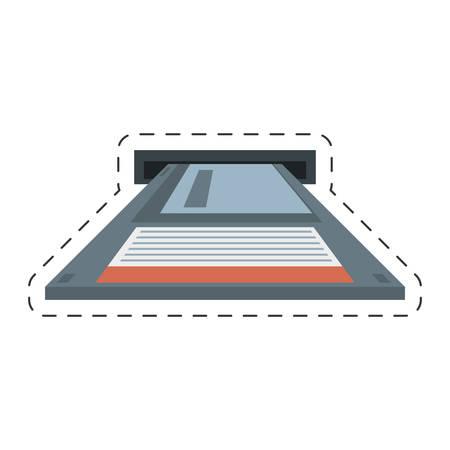 data archiving: floppy diskette storage computer vector illustration eps 10