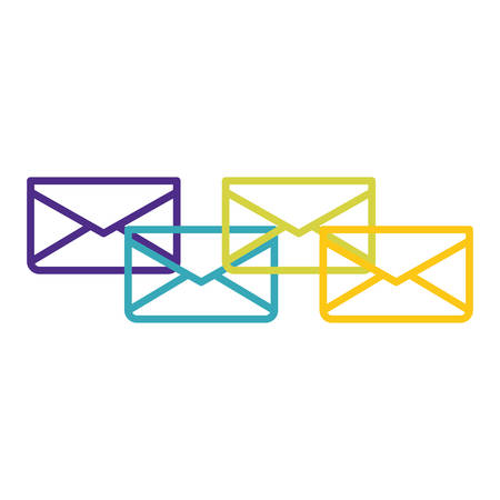 message envelope mail icon image vector illustration design Vettoriali