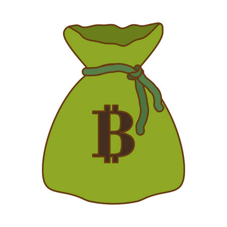 money bag with letter B as emblem bank related icons image vector illustration design
