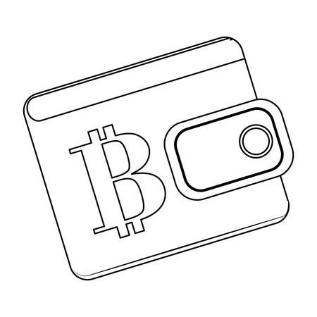 finance department: wallet letter B as emblem bank related icons image vector illustration design Illustration