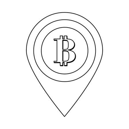 finance department: gps pin letter B as emblem bank related icons image vector illustration design Illustration
