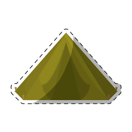 camp tent icon image vector illustration design