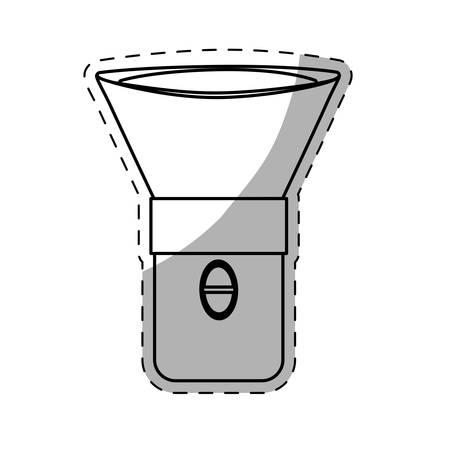 lite: flashlight or lantern  icon image vector illustration design Illustration