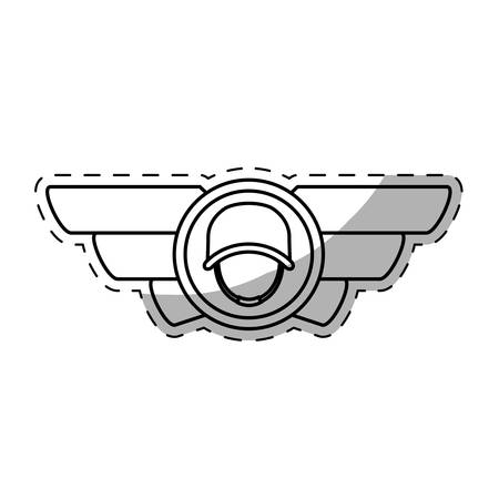 army related emblem image vector illustration design