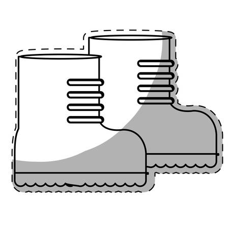 boots army related icons image vector illustration design