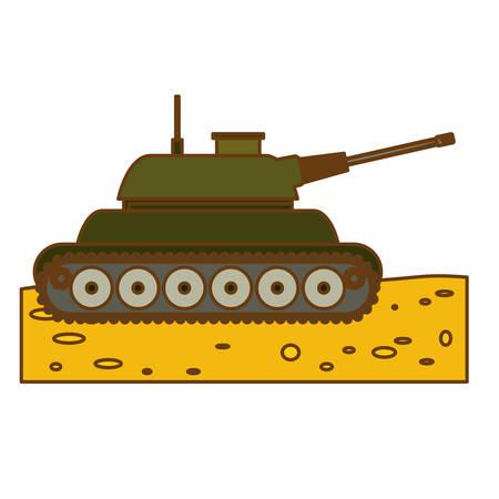 tanque de guerra: tanque de guerra imagen icono del arma ilustración vectorial de diseño Vectores