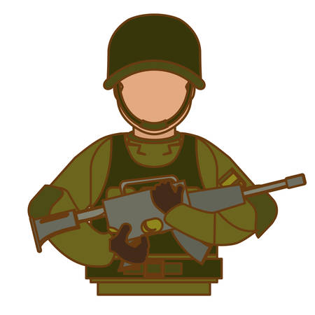 soldier army related icons image vector illustration design