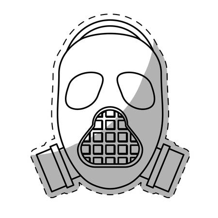 gas mask  icon image vector illustration design