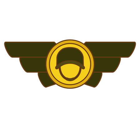 army related  emblem image vector illustration design Illustration