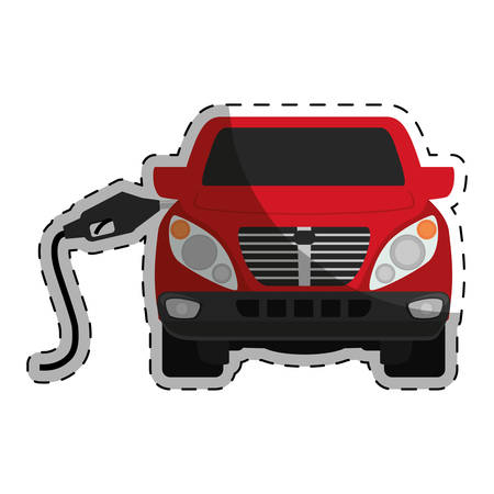 gas pump station gasoline or oil industry related icons image vector illustration design Illustration