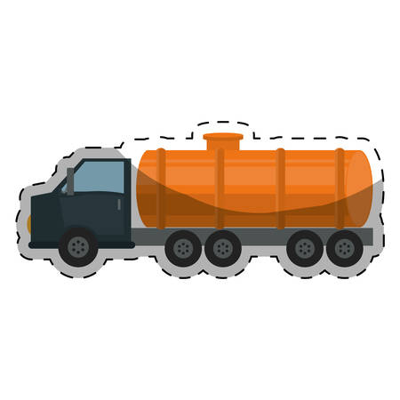 aljibe: cistern truck gasoline or oil industry related icons image vector illustration design Vectores