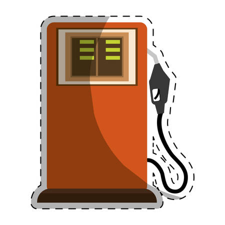 petrochemical: gas pump station gasoline or oil industry related icons image vector illustration design Illustration