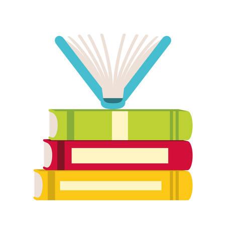 book icon image full color vector illustration design