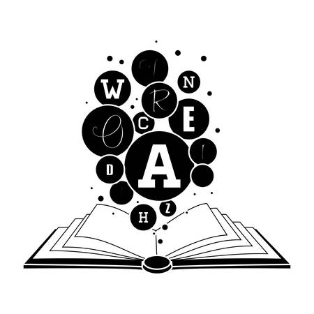 book icon image black and white vector illustration design