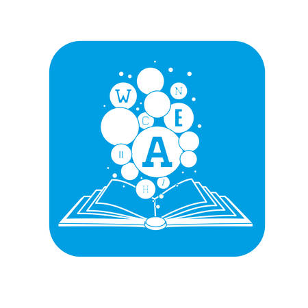 thumbnail: book reading button thumbnail image vector illustration design