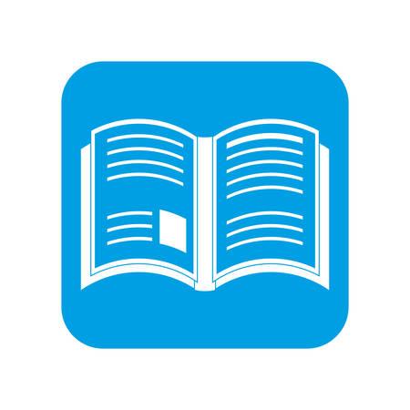 book reading button thumbnail image vector illustration design