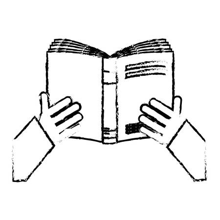 book reading icon image sketch style vector illustration design