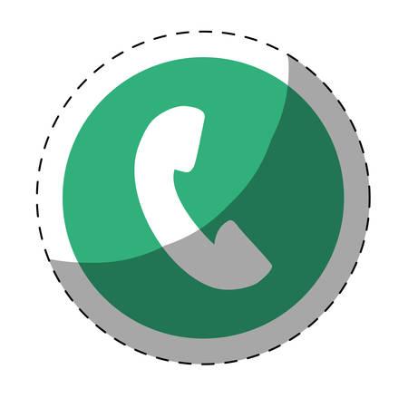 phone icon button thumbnail vector illustration design