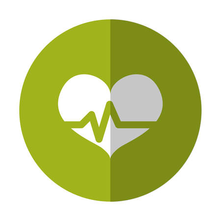 heart cardiogram health icon image vector illustration design