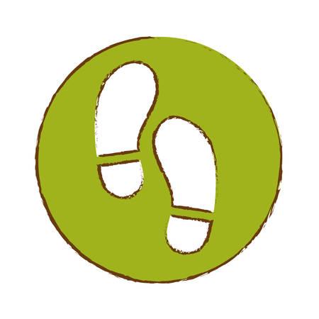 foot steps: foot steps icon image vector illustration design