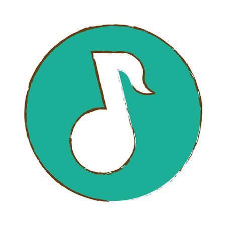 music player thumbnail icon image vector illustration design Illustration