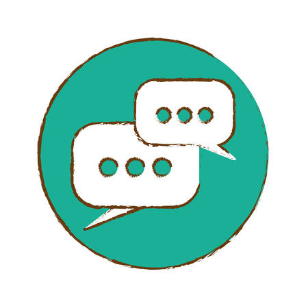 mobile messaging chat icon image vector illustration design