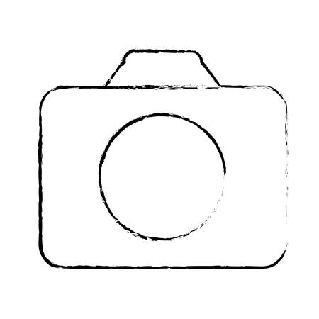 capturing: photographic camera thumbnail icon image vector illustration design Illustration