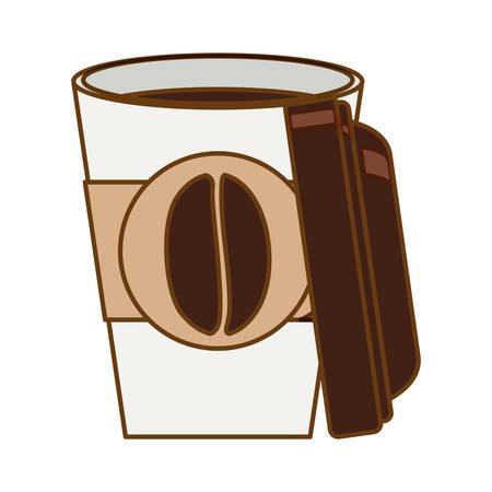roaster: beverage coffee related icons image vector illustration design Illustration